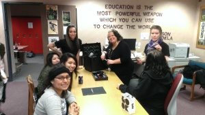 Ladies from the Paul Mitchell Beauty School shared their expertise and wonderful stories!