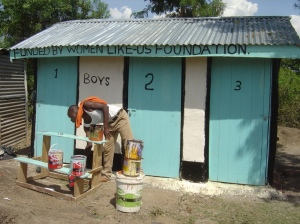 Latrines built at the N A Noel School